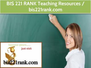 BIS 221 RANK Teaching Resources / bis221rank.com