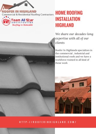 Roofing Solutions Highland