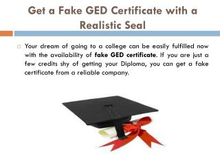 Get a Fake GED Certificate with a Realistic Seal