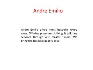 Men's Dress Shirts Online - Andre Emilio