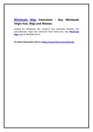 Wholesale Wigs Extensions - Buy Wholesale Virgin Hair, Wigs and Weaves