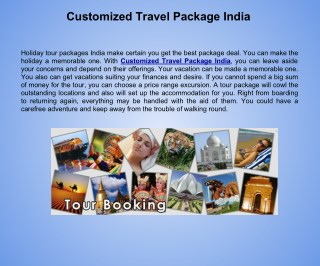 Customized Travel Package India