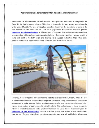 Apartment for Sale Benalmadena | inmobillium.com
