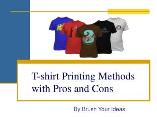 T-shirt Printing Techniques With Pros and Cons