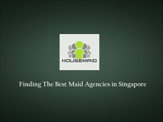 Housemaid Agency Portal Singapore