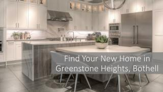 Find Your New Home in Greenstone Heights, Bothell
