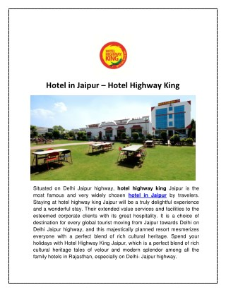 Hotel in Jaipur - Hotel Highway King