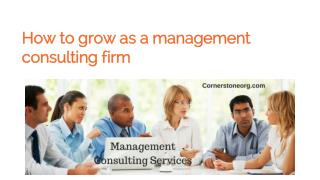 How to grow as a management consulting firm | cornerstone
