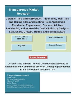 Ceramic Tiles Market Report 2016 Analysis by Trends, Production, Consumption 2024