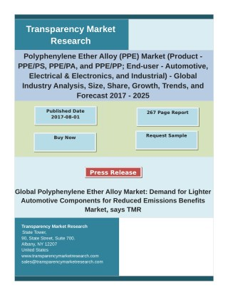 Polyphenylene Ether Alloy Market Analysis and Forecast Study for 2017-2025