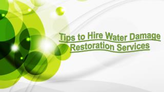 Tips to Hire Water Damage Restoration Services