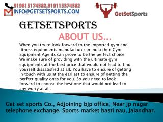 Obtain latest fitness equipment's at one go