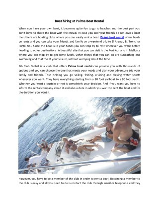 Best palma boat rental