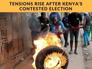 August election tensions rise in Kenya