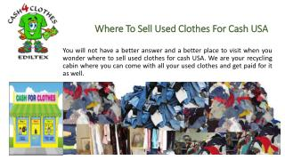 Where To Sell Used Clothes For Cash USA
