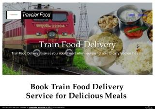Book Train Food Delivery Service for Delicious Meals