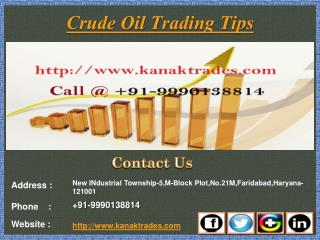 MCX Positional Calls, Crude Oil Trading Tips