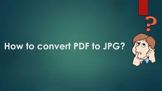 How to convert PDF to JPG?