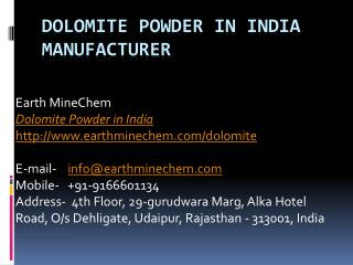Dolomite Powder in India Manufacturer