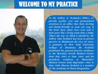 Dental X Ray Centres in NYC by Dr. Jeffrey A. Scolnick
