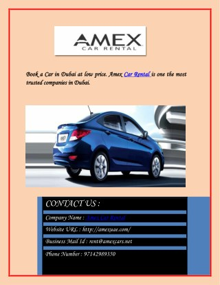 Provide the most satisfying car rental Dubai service