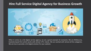 Hire Full Service Digital Agency for Business Growth
