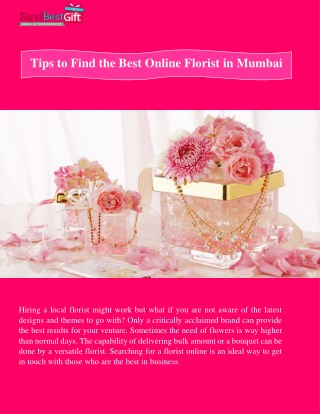 Tips to Find the Best Online Florist in Mumbai