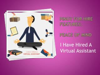 Pinoy for Hire Features