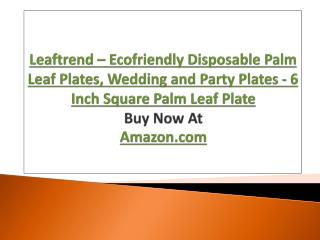 Leaftrend – Eco friendly Disposable Palm Leaf Plates, Wedding and Party Plates - 6 Inch Square Palm Leaf Plate