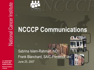 NCCCP Communications