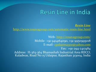 Resin Line in India
