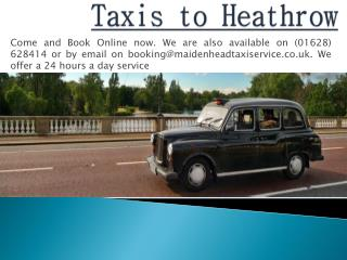 Taxis to Heathrow