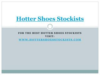 hotter shoes stockists