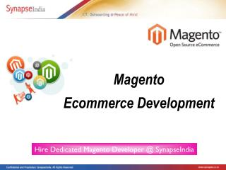 Magento Developers - Magento Ecommerce Development