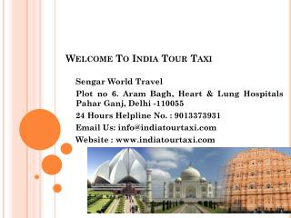 India tour taxi car rental delhi