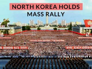 North Korea holds mass rally to protest U.N. sanctions