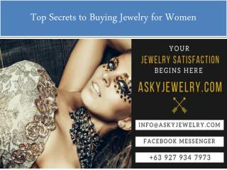Top Secrets to Buying Jewelry for Women