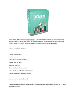 SociViral Review - Hot Traffic For Free