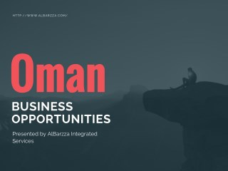 Oman Business Opportunities