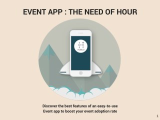 Event App - The Need of an Hour