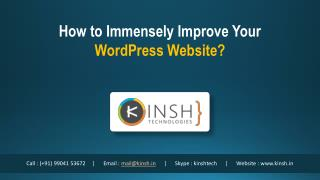 How to Immensely Improve Your WordPress Website?