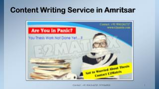 Content Writing Service in Amritsar