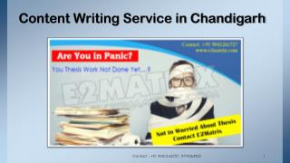 Content Writing service in chandigarh