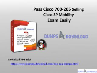 Free 700-205 Real Exam Questions - Free 700-205 Dumps PDF