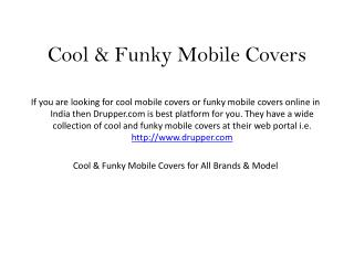 Where to Buy Cool and Funky Mobile Covers Online India