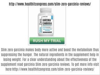 Slim zero garcinia reviews