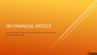 PPT - Equity research: Industry Research Report, IPO ...