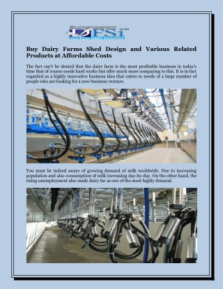 Buy Dairy Farms Shed Design and Various Related Products At Affordable Costs