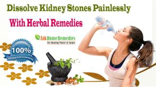 Dissolve Kidney Stones Painlessly With Herbal Remedies