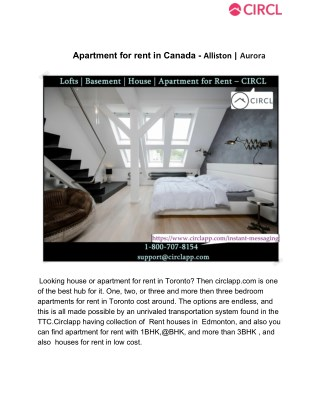 Apartment for rent in Canada - ? Alliston | ? Aurora